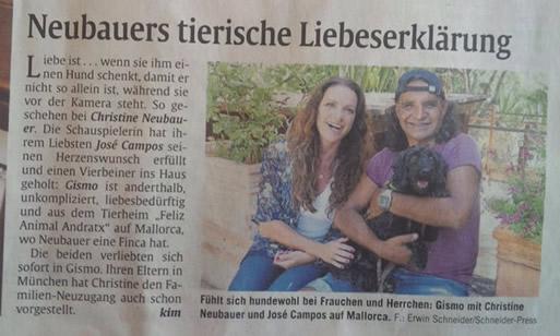 Christine Neubauer und Wuschel Gismo
